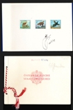 AFGHANISTAN 1970 Strange Birds. Signatured Proofs:3 adm. folder
