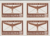 ARGENTINA 1940 Air mail 30c PROOFS:4-BLOCK
