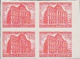 ARGENTINA 1942 Old Mail center 35c PROOFS:4-BLOCK