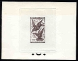 CHAD 1961. Flying Birds 100F Signatured Proof [PRINT:4]
