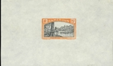 CAMEROON 1925. Wood forest river postage Due 25c Big proof 12x7cm