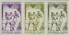 DAHOMEY 1963 Heavy weight Boxing 0,50F Proofs: 3-strip