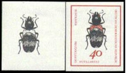 GERMANY-DDR 1969. Beetle bug insect 40pf PROGRESSIVE PROOFS:2