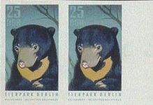 GERMANY-DDR 1970. Sweet Bear 25pf. PROOF PAIR [PRINT:10]