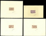 FRANCE 1950. Fountain fooling kids SIGNATURED PROOFS:4