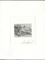 FRENCH SOUTHERN & ANTARTIC TERRITORY TAAF 1972. Crozet Island. SIGNED BLACKPROOF.Ministry seal