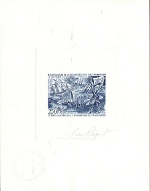 FRENCH SOUTHERN & ANTARTIC TERRITORY TAAF 1972. Crozet Island. SIGNED PROOF.Ministry seal