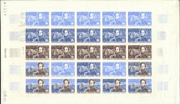 FSAT TAAF 1968. Ships 50F. PROOFS SHEET :25 stamps