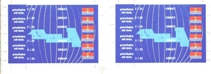 KIRIBATI 1993. Maps & flags $1.20.IMPERF PROOF PAIR