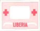 LIBERIA 1954 Red Cross border only Proof red