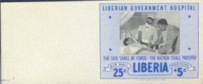 LIBERIA 1954 Red Cross border only PROOF no red