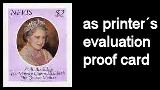 NEVIS 1980. Queen Mother £2 Printer´s evaluation card PROOF