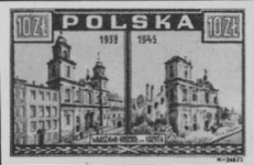 POLAND 1945. WWII Church 10ZL. Blackproof