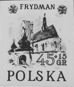 POLAND 1952. Another Cute Castle church? 45+15gr.semi-postal. Blackproof
