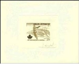 WALLIS & FUTUNA 1976. Olympics Montreal throwing that thing again 3f. Signatured proof [PRINT:26]