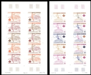 WALLIS & FUTUNA 1976. Olympics Montreal 3f. PROOFS SHEETS :2 x 10 stamps