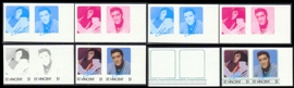 ST.VINCENT 1985. Elvis Presley $1. PROGRESSIVE PROOF PAIRS :8