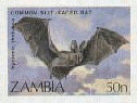 ZAMBIA 1989. Bats 50n. IMPERF.+ Progressive Proofs :4 stages