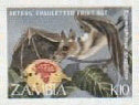 ZAMBIA 1989. Bats K10. IMPERF.+ Progressive Proofs :4 stages