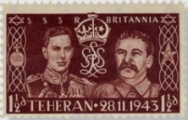 GREAT BRITAIN 1935 1½d GERMAN Stalin FORGERY