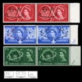 GREAT BRITAIN 1957. Scouting. PERFINS:B.P. MARGIN PAIRS:3 (6 stamps)