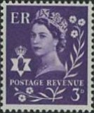 GREAT BRITAIN Northern Ireland 1958. 3d lilac 1-phosfor flowers. COMPLETE SHEET:240 stamps BULK:2x=480 stamps full pane.