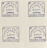 INDIAN STATES-CHARKHARI 1894 swords FORGERY ½d Anna Purple. IMPERF.Sheet:35 stamps
