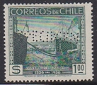 CHILE 1936 Beautiful place harbour 1p Specimen