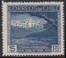 CHILE 1936 Great Volcano 1.20p Specimen