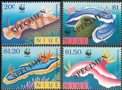 NIUE 1999 WWF. Nudibranchs 4 values. Ovpt.SPECIMEN.Set:4 values