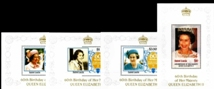 ST.LUCIA 1986 Queen EII 60th birthday Sheetlets :4. UNISSUED-officially planned.BULK :4x