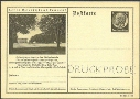GERMANY 1938. Trees Spargel vegetables 6pf PROOF. Post Card Postal Stationery