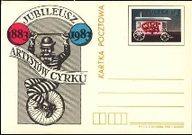 POLAND 1983. Clown Circus 5Zt. Post card Postal Stationery