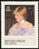 Br.Virgin Islands 1982 DIANA 35p. COMPLETE SHEET:50 stamps full pane