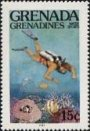 DIVING Grenada Grenadines 1985 15c Sheet:20 stamps