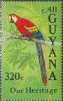 BIRDS Guyana 1985. Macaw 320c. Sheet:40 stamps