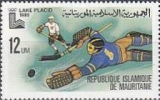 Mauritania 1979 Olympics Lace Placid 12UM Ice-hockey COMPLETE SHEET:24 stamps