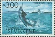 FISHES St. Vincent Grenadines Deep-sea game fishing $3.00. Sheet:50