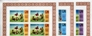 BARBUDA 1974.World Cup Football team result in corner. IMPERF.4-BLOCKS :3 upp marg(12 stamps).UNISSUED-officially planned. BULK