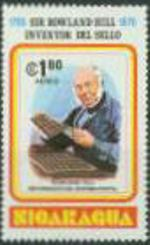 NICARAGUA 1980. Rowland Hill 1.80 Penny Black (air) no overprint. UNISSUED-officially planned