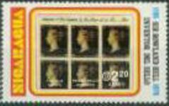 NICARAGUA 1980. Penny Black stamps on stamps Rowland Hill 2.20. no overprint. UNISSUED-officially planned