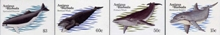 ANTIGUA & BARBUDA 1983 Whales IMPERF.PAIRS :4 (8 stamps)+Progressive proofs :5 stages