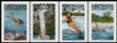 GRENADA GRENADINES 1985.Water sports scuba windsurfing.IMPERF.SET :4 stamps+PROOFS :6 stages